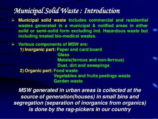 role of waste pickers in solid Chapter 5 – municipal solid waste management: turning waste  into  importance of waste separation 5 veolia  the health risks for waste  pickers and communities due to conventional waste management practices.