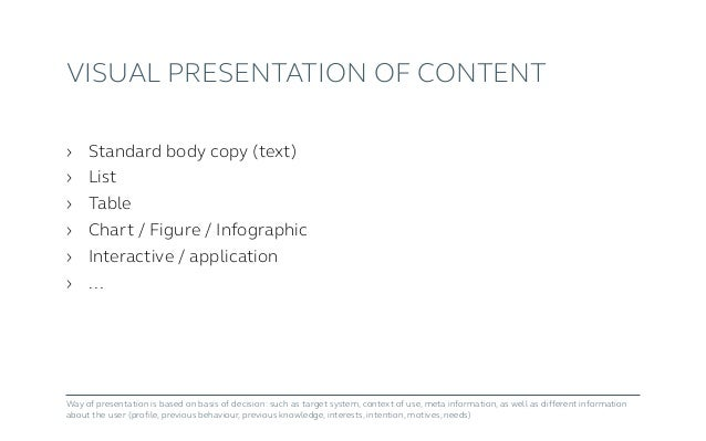Content Design, UI Architecture and Content-UI-Mapping