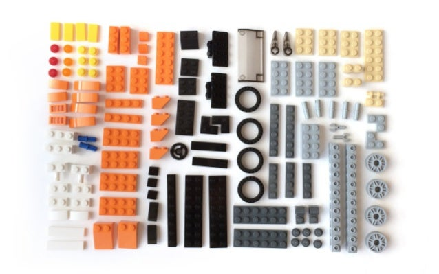 Bricks → bumper bar → driving cab → truck → fire truck or police truck or ... componentbrick segment