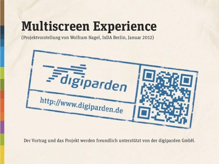 Der Vortrag und das Projekt werden freundlich unterstützt von der digiparden GmbH.