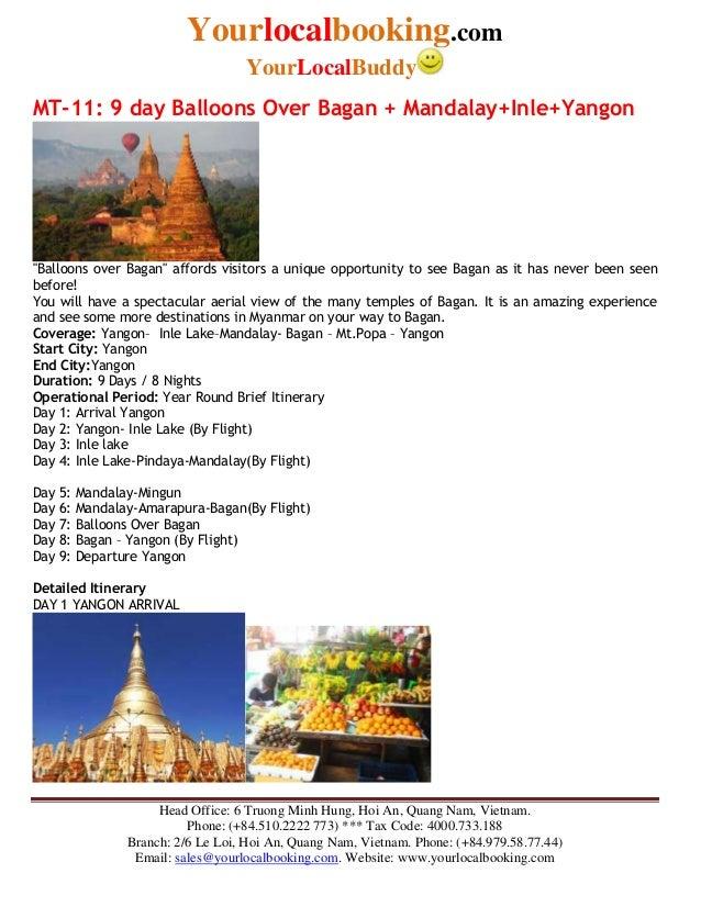 Yourlocalbooking.com YourLocalBuddy Head Office: 6 Truong Minh Hung, Hoi An, Quang Nam, Vietnam. Phone: (+84.510.2222 773)...