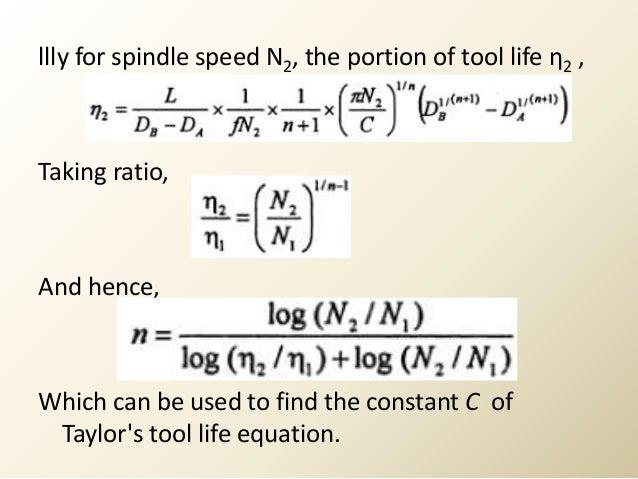 Taylor Tool Life Calculator