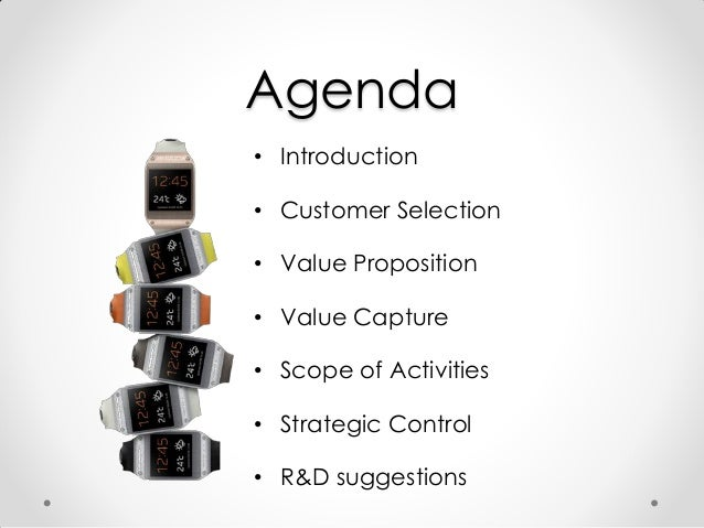 Smart Watch: a business model Slide 2
