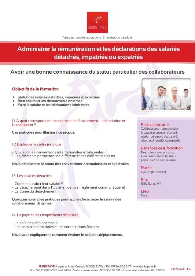 Votre partenaire expert de la rémunération salariale  Administrer la rémunération et les déclarations des salariés  détach...