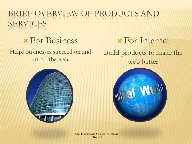 google company strategic plan