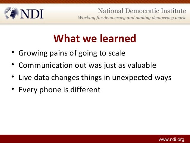 What we learned • Growing pains of going to scale • Communication out was just as valuable • Live data changes things in u...