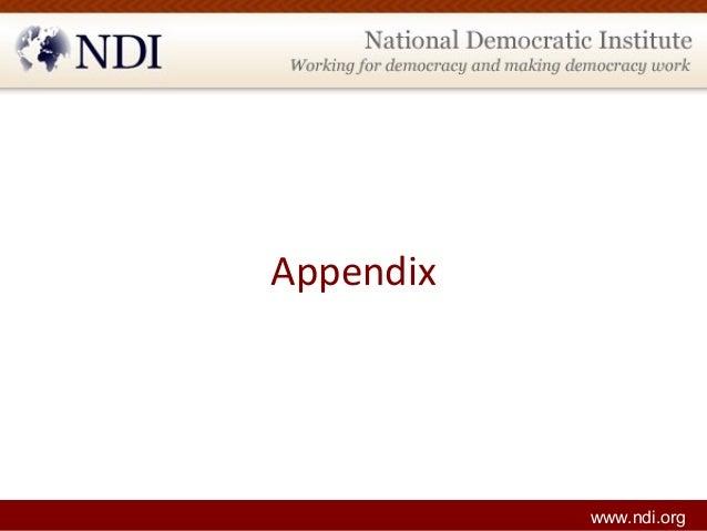 Appendix www.ndi.org