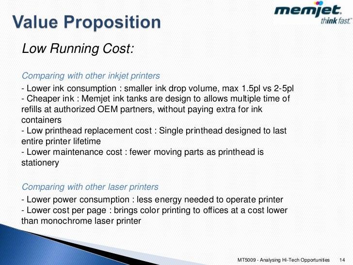 cost per page color laser vs inkjet - improving ink jet printers with mems