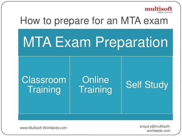 Microsoft Technology Associate Mta Certification Path