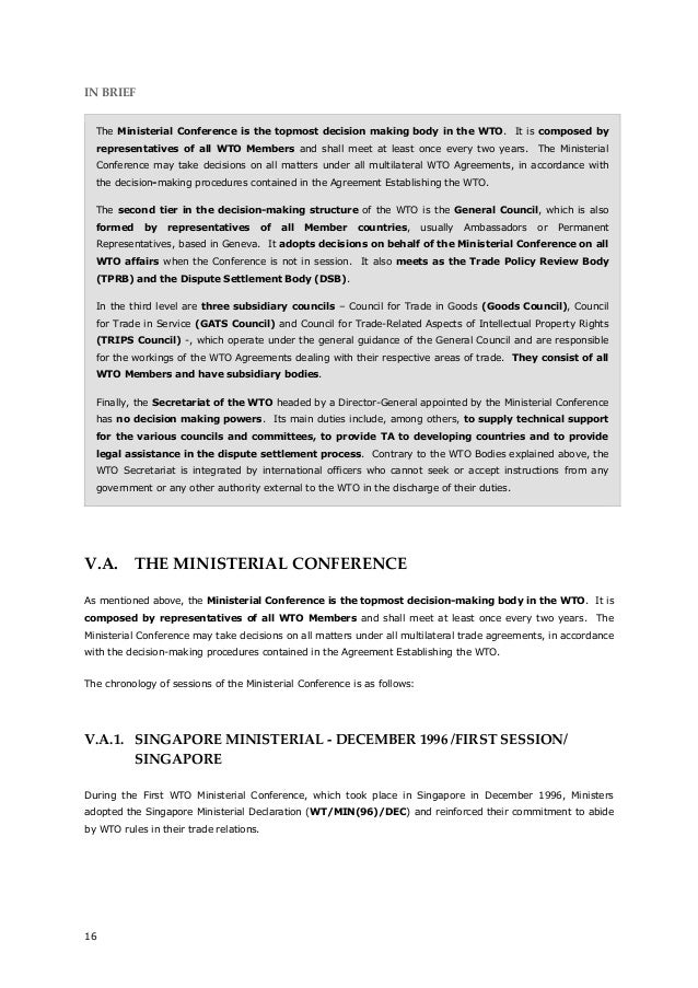 The Multilateral Trade Agreements