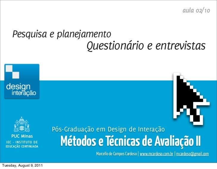Métodos e Técnicas de Avaliação 2 / Marcello Cardoso                                                                      ...