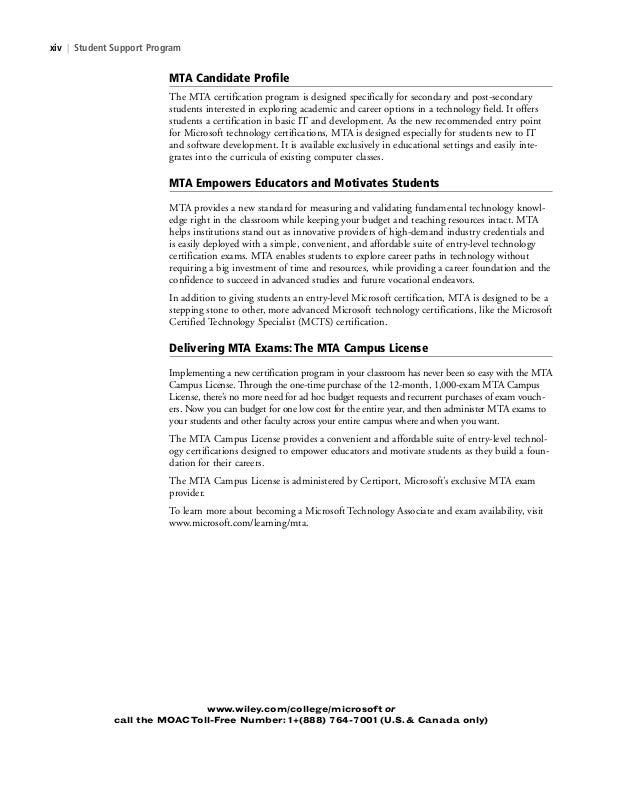 Software Development Fundamentals Exam 98 361