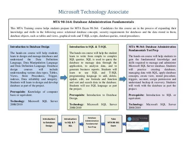 Mta Database Certification Prep Training