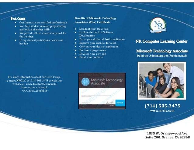 mta database brochure