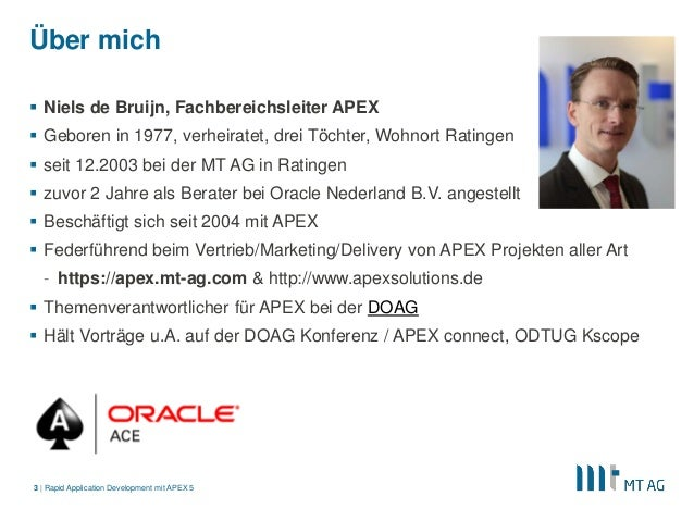 MT AG Präsentation Rapid Application Development mit APEX 5