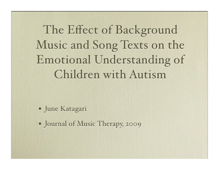 Music therapy and autism case studies