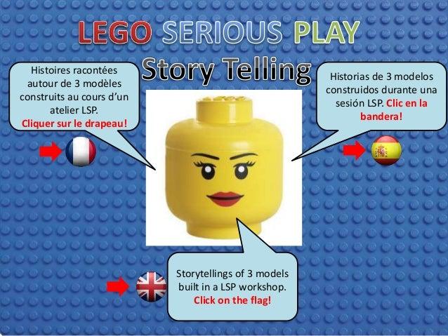 Histoires racontées autour de 3 modèles construits au cours d'un atelier LSP. Cliquer sur le drapeau! Storytellings of 3 m...