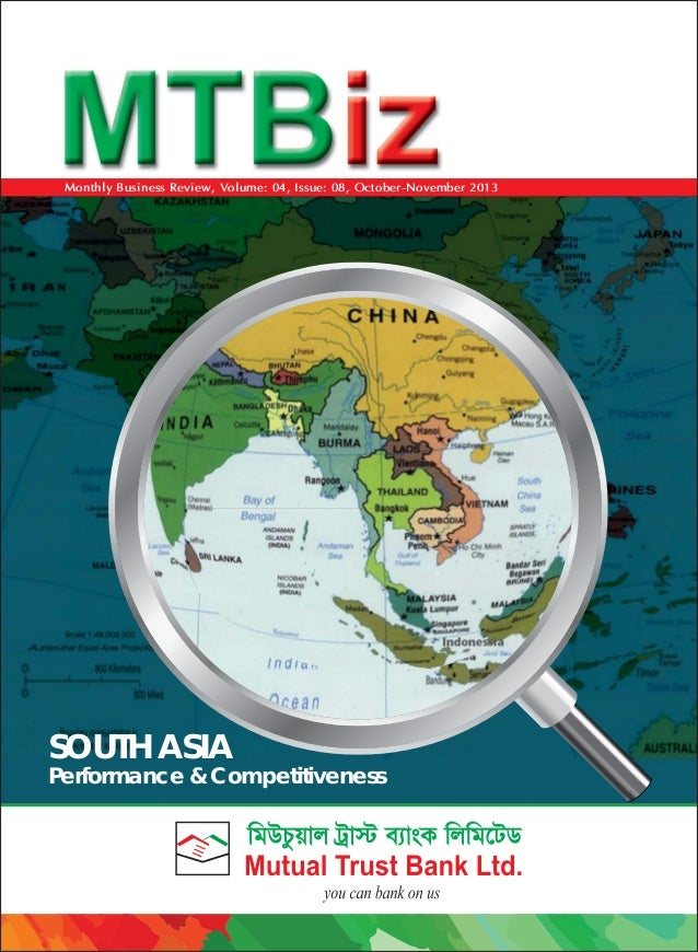 Monthly Business Review, Volume: 04, Issue: 08, October-November 2013  SOUTH ASIA  Performance & Competitiveness