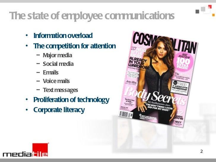 Enhancing Employee Communications with Digital Signage Slide 2