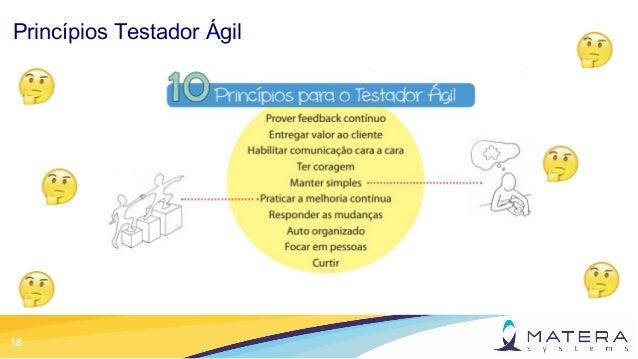 18 Princípios Testador Ágil