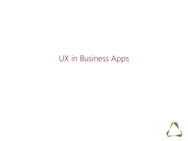 UX in Business Apps