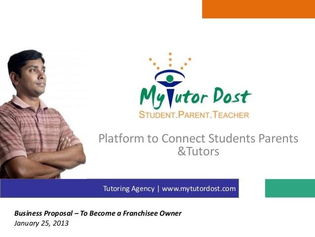 Platform to Connect Students Parents                                      &Tutors                         Tutoring Agency ...