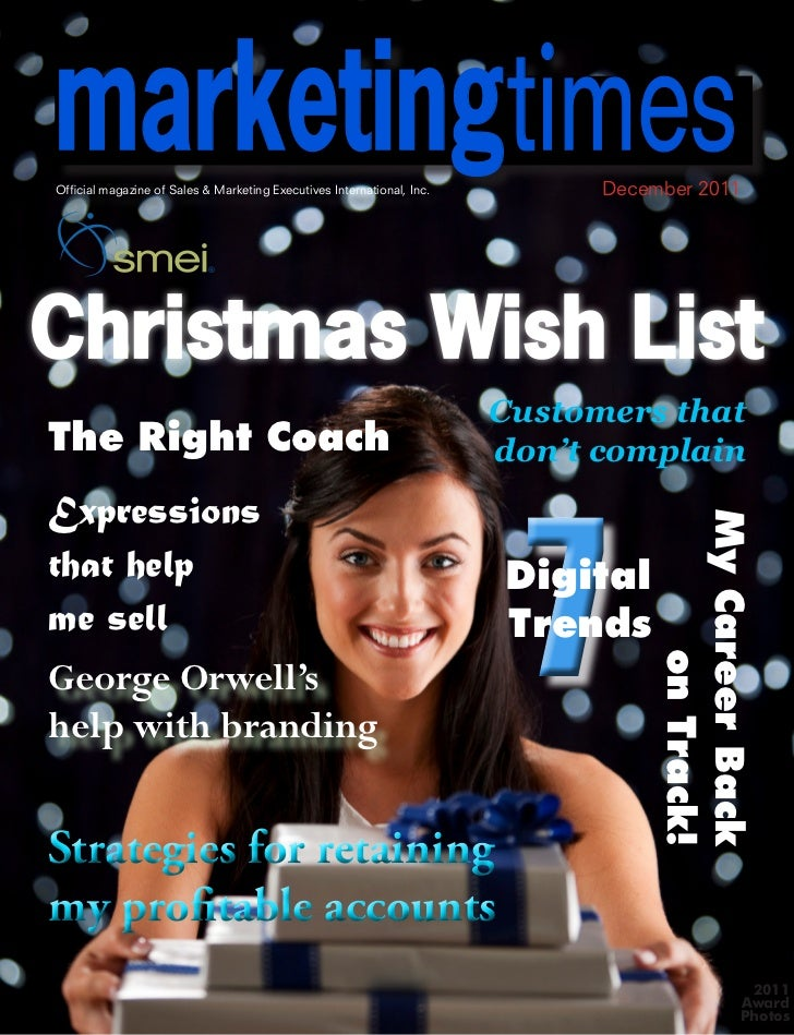 marketingtimesOfficial magazine of Sales & Marketing Executives International, Inc.                   December 2011       ...