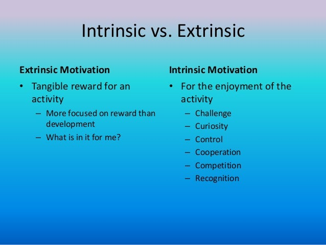 intrinsic extrinsic rewards questionnaire Questionnaires consisting of four sections assessing intrinsic, extrinsic rewards,  only the relationship between extrinsic rewards and job  extrinsic rewards.
