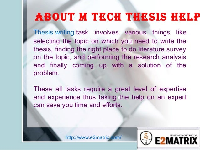 m.tech thesis on computer science Thesis topics m tech computer science our essay editing experts are available any time of the day or night to help you get better grades on your essays and become a.
