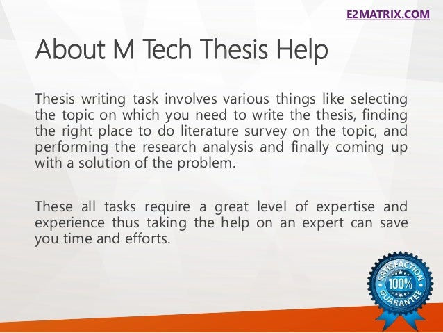 m-tech thesis in computers M tech computer science - research database  many consider the fifth & final chapter of the dissertation or thesis to be its most important  more on conclusions.