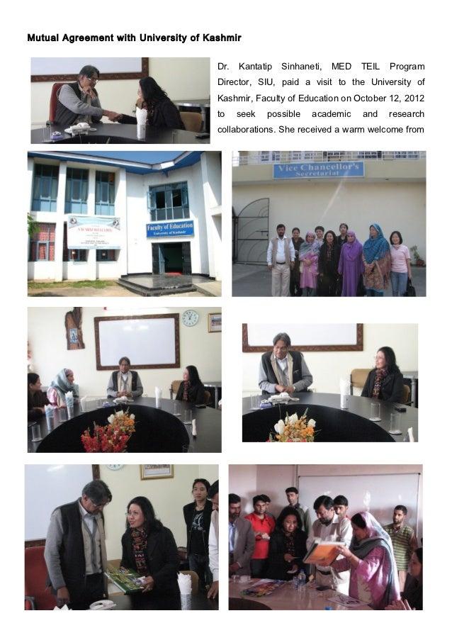 Mutual Agreement with University of Kashmir                                      Dr.   Kantatip   Sinhaneti,   MED   TEIL ...