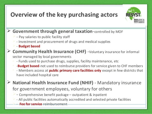 the feasibility of the national health insurance To ensure the acceptability of community-based insurance (cbi) by the community and its sustainability, a feasibility study of cbi was conducted in burkina faso, including preference for benefit.