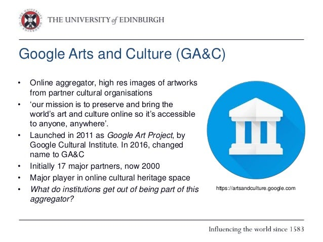 Why does the GLAM sector work with Google Arts and Culture? Results of a Survey Slide 2