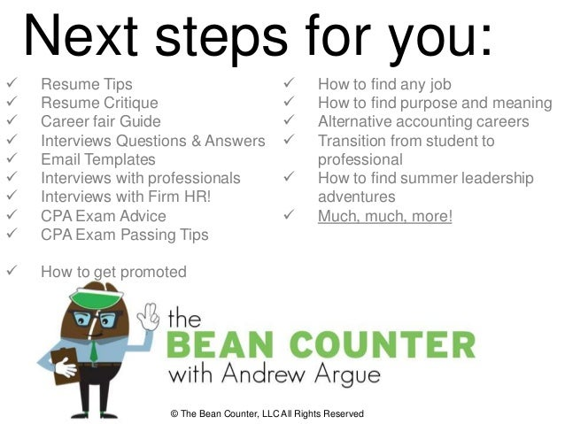 How To Get Hired By Big  Accounting Firms Webinar With Andrewar