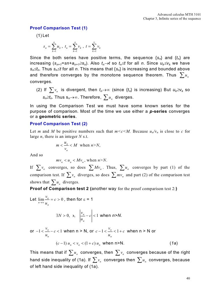 Mth3101 Advanced Calculus Chapter 3