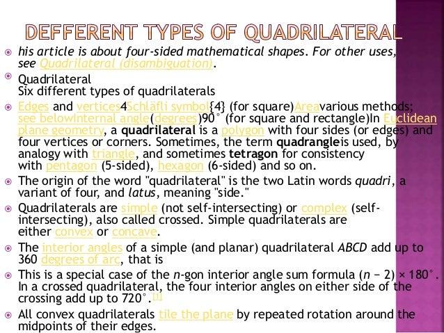 Mathematics 7 euler diagram of some types of quadrilaterals ccuart Gallery