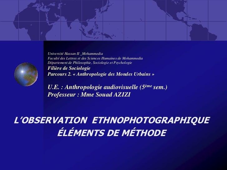 Université Hassan II _Mohammedia     Faculté des Lettres et des Sciences Humaines de Mohammedia     Département de Philoso...