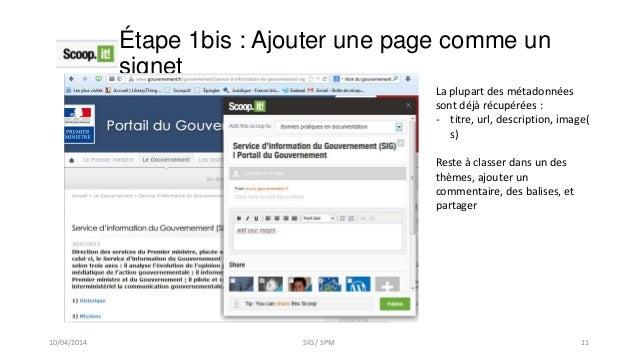 Étape 1bis : Ajouter une page comme un signet La plupart des métadonnées sont déjà récupérées : - titre, url, description,...