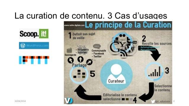 La curation de contenu. 3 Cas d'usages 10/04/2014 SIG / SPM 2