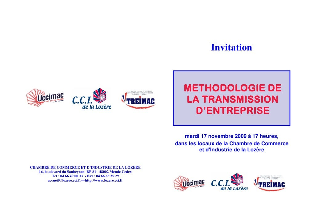 Invitation                                                                 METHODOLOGIE DE                                ...