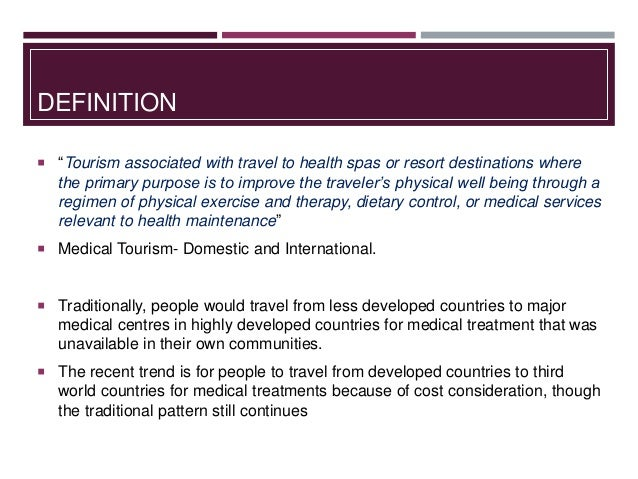 medical tourism in india swarnadefinition  \u201ctourism