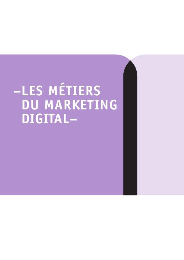 Métiers du marketing digital apec juillet 2015 Slide 3