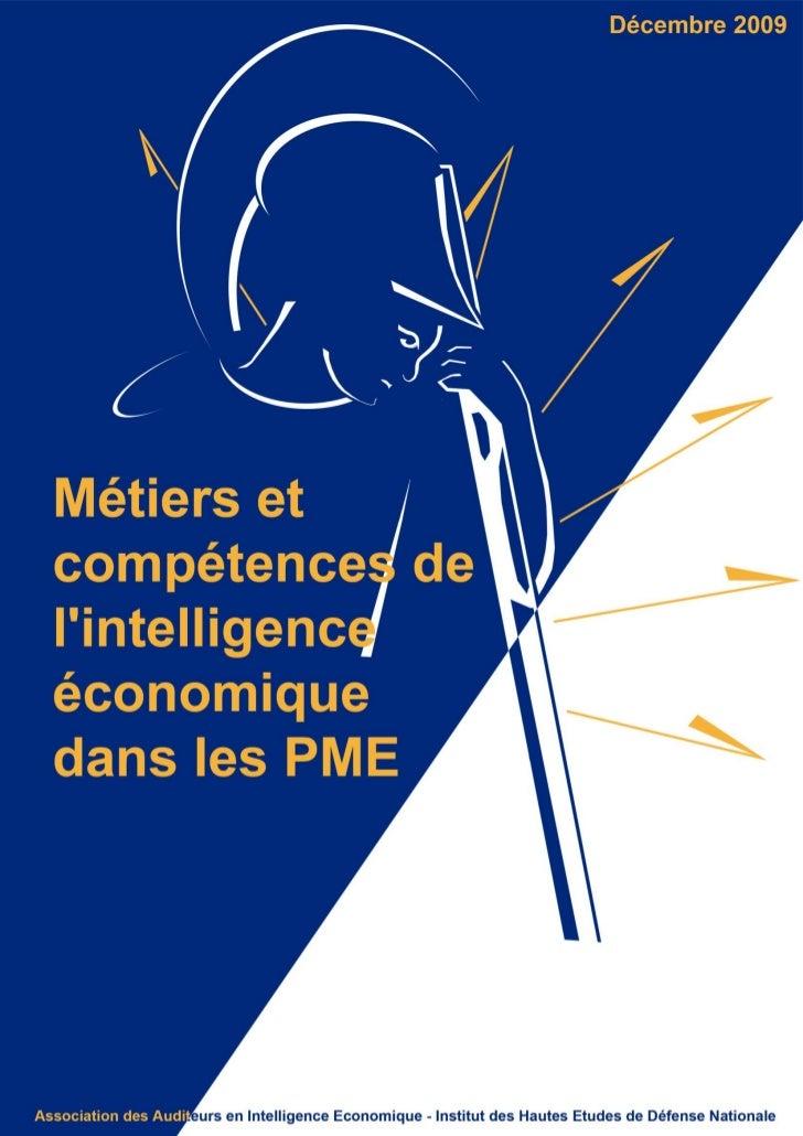 """Guide AAIE-IHDEN : """"Métiers et compétences de l'intelligence économique dans les pme"""""""