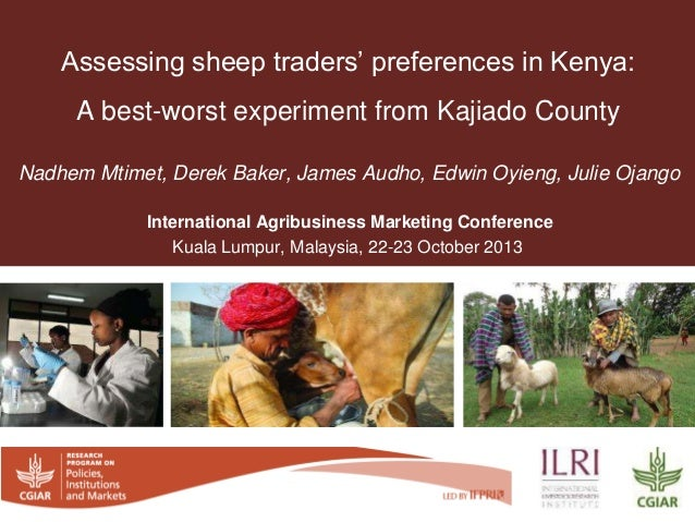 Nadhem Mtimet, Derek Baker, James Audho, Edwin Oyieng, Julie Ojango International Agribusiness Marketing Conference Kuala ...