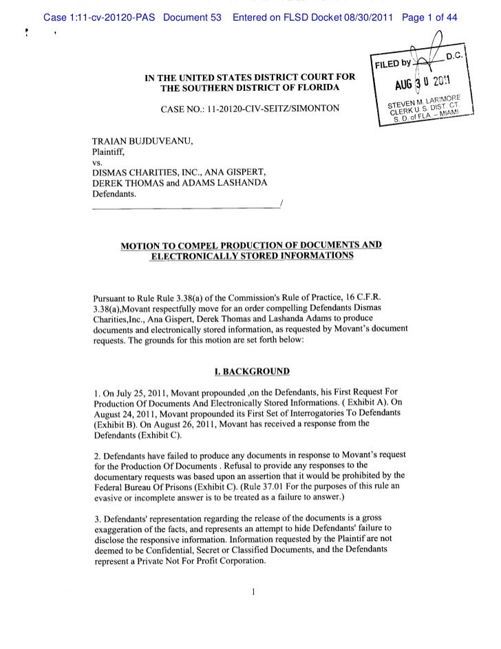 Case 1:11-cv-20120-PAS Document 53     Entered on FLSD Docket 08/30/2011 Page 1 of 44#i                                   ...