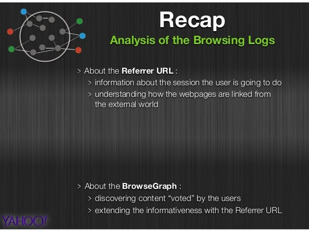 About the Referrer URL : information about the session the user is going to do understanding how the webpages are linked f...