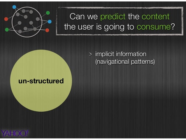 Can we predict the content the user is going to consume? un-structured implicit information  (navigational patterns) brow...