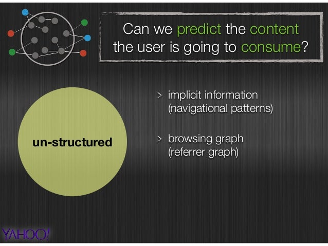 Can we predict the content the user is going to consume? un-structured implicit information  (navigational patterns) pred...