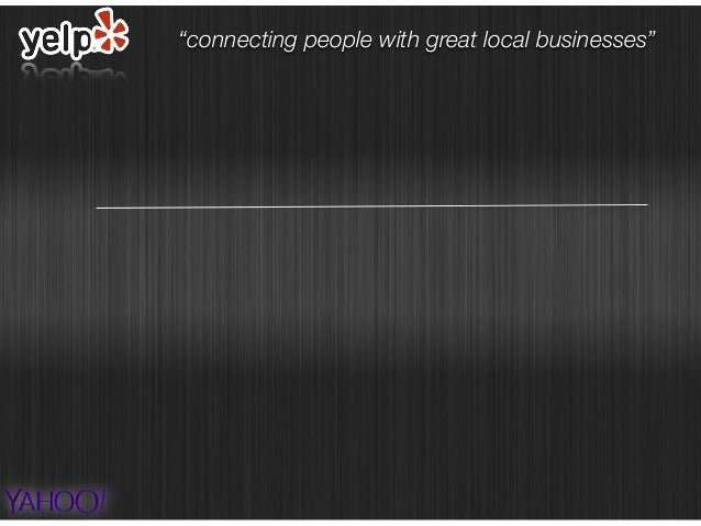 """""""connecting people with great local businesses"""""""