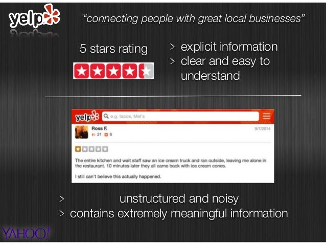 5 stars rating explicit information clear and easy to understand unstructured and noisy contains extremely meaningful info...